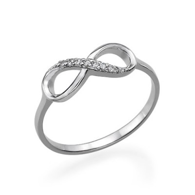 Silver Cubic Zirconia Infinity Ring - Custom Jewellery By All Uniqueness