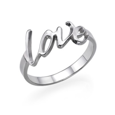 Silver Love Ring - Custom Jewellery By All Uniqueness