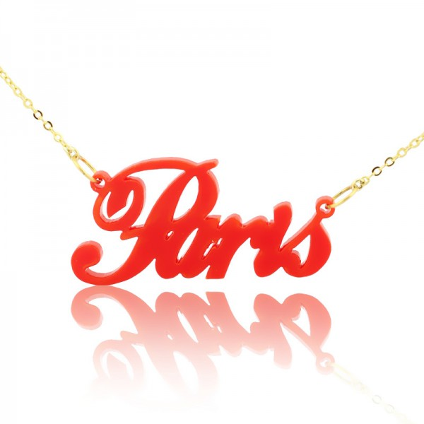 71563de64 Colorful Acrylic Paris Style Name Necklace - Custom Jewellery By All  Uniqueness