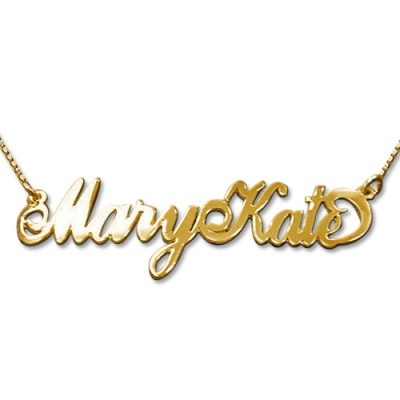2 Capital Letters Gold Name Necklace - Custom Jewellery By All Uniqueness