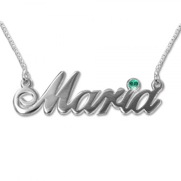 40eaca5ba white Gold and Swarovski Crystal Name Necklace - Custom Jewellery By All  Uniqueness