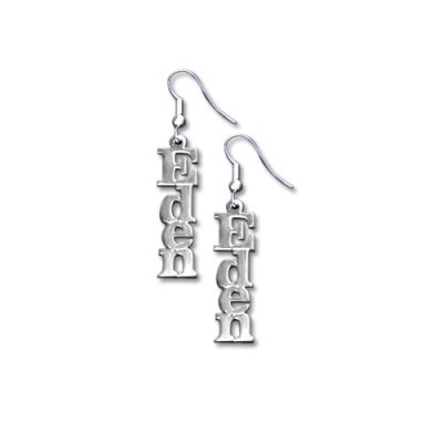 Silver Name Earrings - Custom Jewellery By All Uniqueness