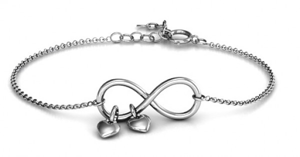Promise Bracelet With Two Heart Charms