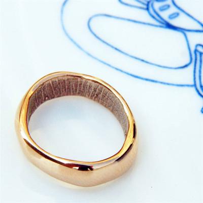 Rose Gold Bespoke Fingerprint Wedding Ring - Custom Jewellery By All Uniqueness