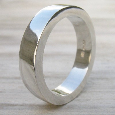 Chunky Mens Silver Ring - Custom Jewellery By All Uniqueness