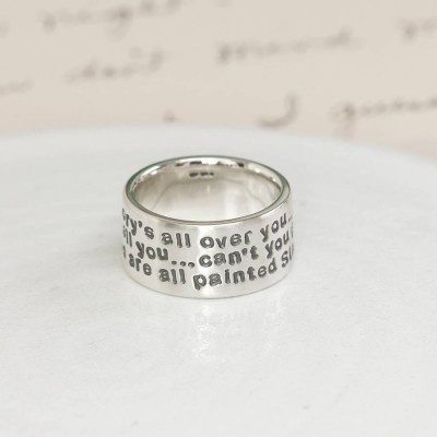 Silver Message Ring - Custom Jewellery By All Uniqueness