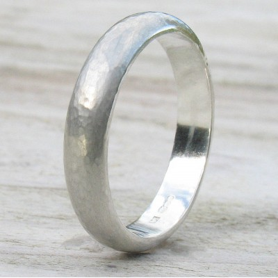 Silver Hammered Ring - Custom Jewellery By All Uniqueness