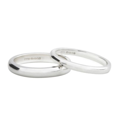 Silver D Shape Wedding Band - Custom Jewellery By All Uniqueness