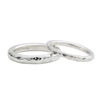 Silver Halo Wedding Band - Custom Jewellery By All Uniqueness