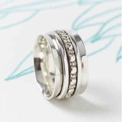 Maharani Silver Spinning Ring - Custom Jewellery By All Uniqueness