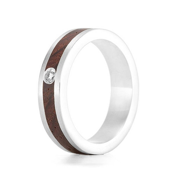 Wood Ring Native Diamond - Custom Jewellery By All Uniqueness