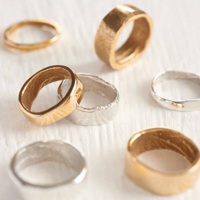 Yellow Gold Bespoke Fingerprint Ring - Custom Jewellery By All Uniqueness