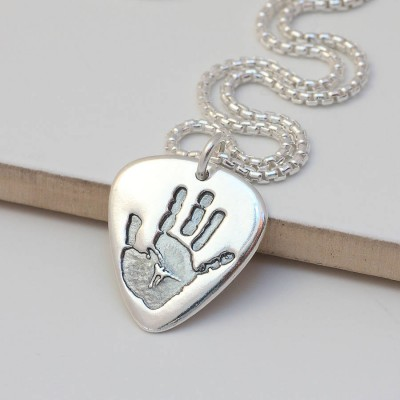 Mens Hand Or Footprint Necklace - Custom Jewellery By All Uniqueness