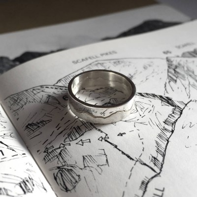 Mountain Landscape Skyline Ring - Custom Jewellery By All Uniqueness