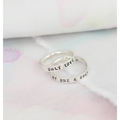 Script Ring For Couples - Custom Jewellery By All Uniqueness