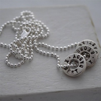 Silver Washer Necklace - Custom Jewellery By All Uniqueness