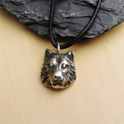 Silver Wolf Head Necklace - Custom Jewellery By All Uniqueness
