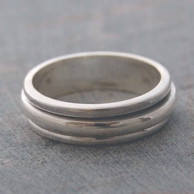 Silver Spin Ring - Custom Jewellery By All Uniqueness