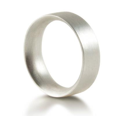 Mens Silver Wedding Ring Comfort Fit Matt - Custom Jewellery By All Uniqueness